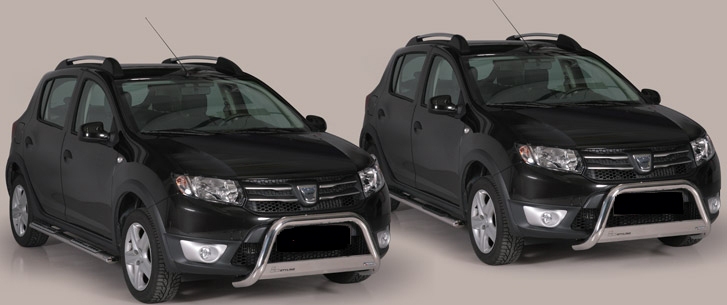 Stainless Steel Grille Guard Dacia Sandero Stepway 2013 Fortec4x4
